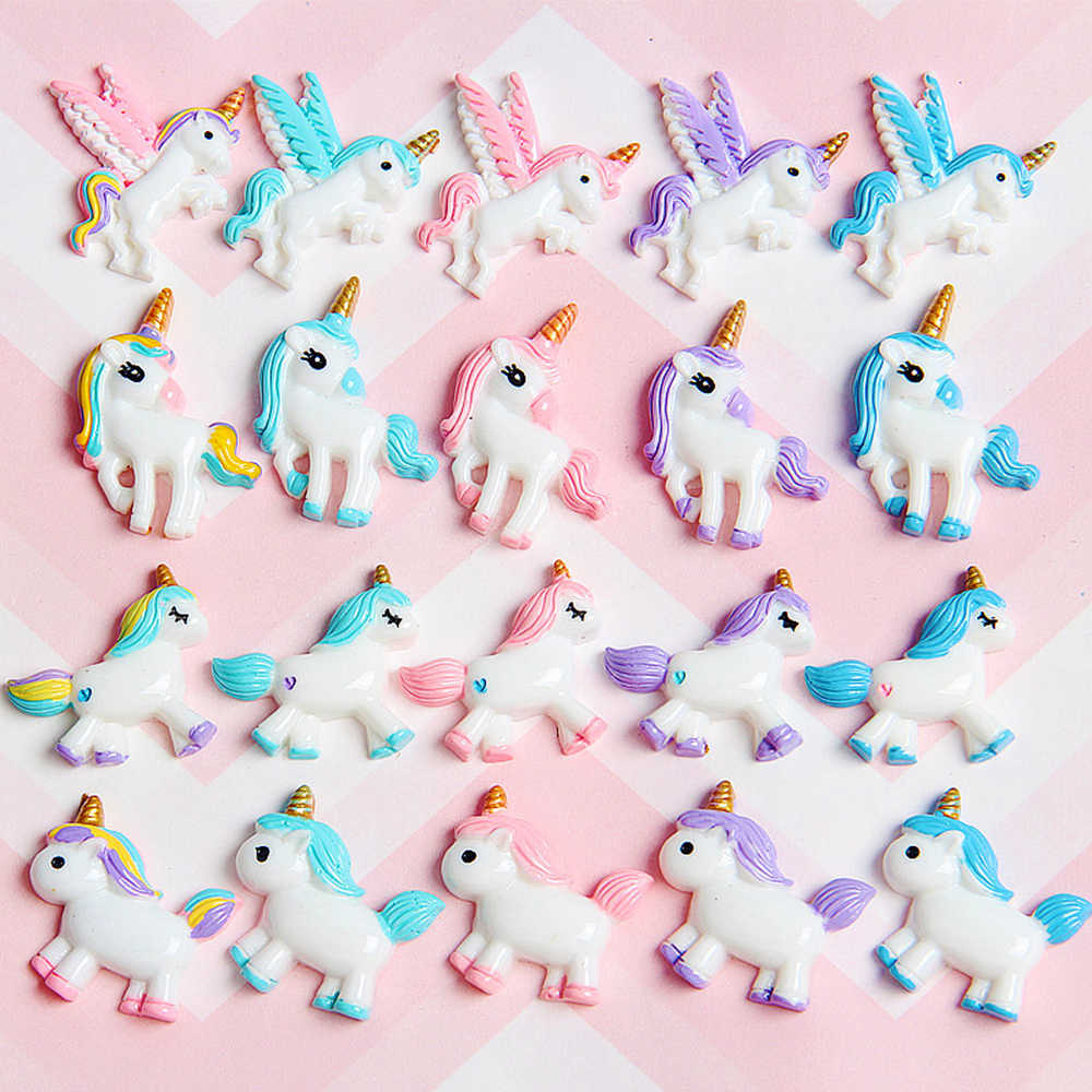 Unicorn Charms for Slime DIY Candy Polymer Bead Filler Addition Slime Accessories Toys Lizun Modeling Clay Kit for Children