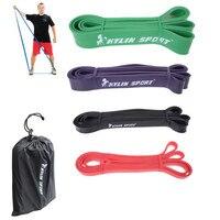 Set Of 4 Natural Latex 41 Strength Resistance Bands Athletics Bodybuilding Fitness Leg Elastic Band Anti