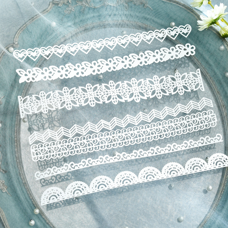 KLJUYP 14pcs White Lace Paper Doilies/Placemats for Wedding Party Decoration Supplies Scrapbooking Paper Crafts 1