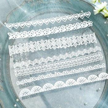 KLJUYP 14pcs White Lace Paper Doilies/Placemats for Wedding Party Decoration Supplies Scrapbooking Paper Crafts 1