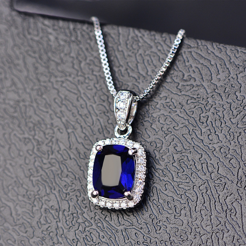 Fashion Necklace For Girls Luxury Crystal Color Stone jewelry accessories Women Necklaces Party zk80