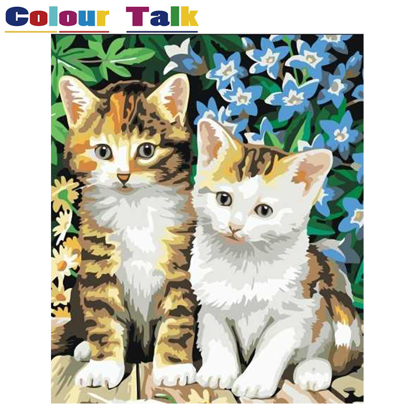 Animals Diy Painting By Numbers Kits Paint On Canvas