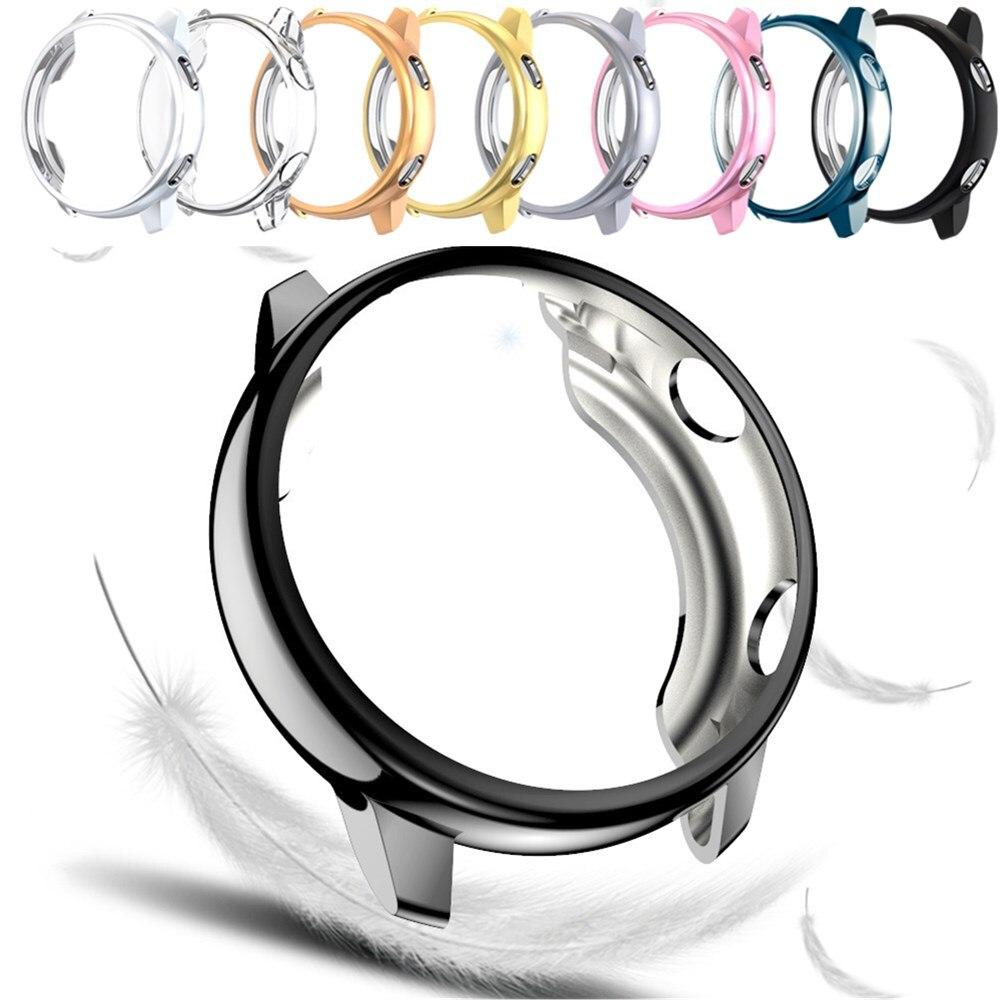 Мягкий чехол для Samsung Galaxy Watch Active 2 1 40 мм 44 мм бампер Защитная крышка ТПУ Защитная оболочка аксессуары