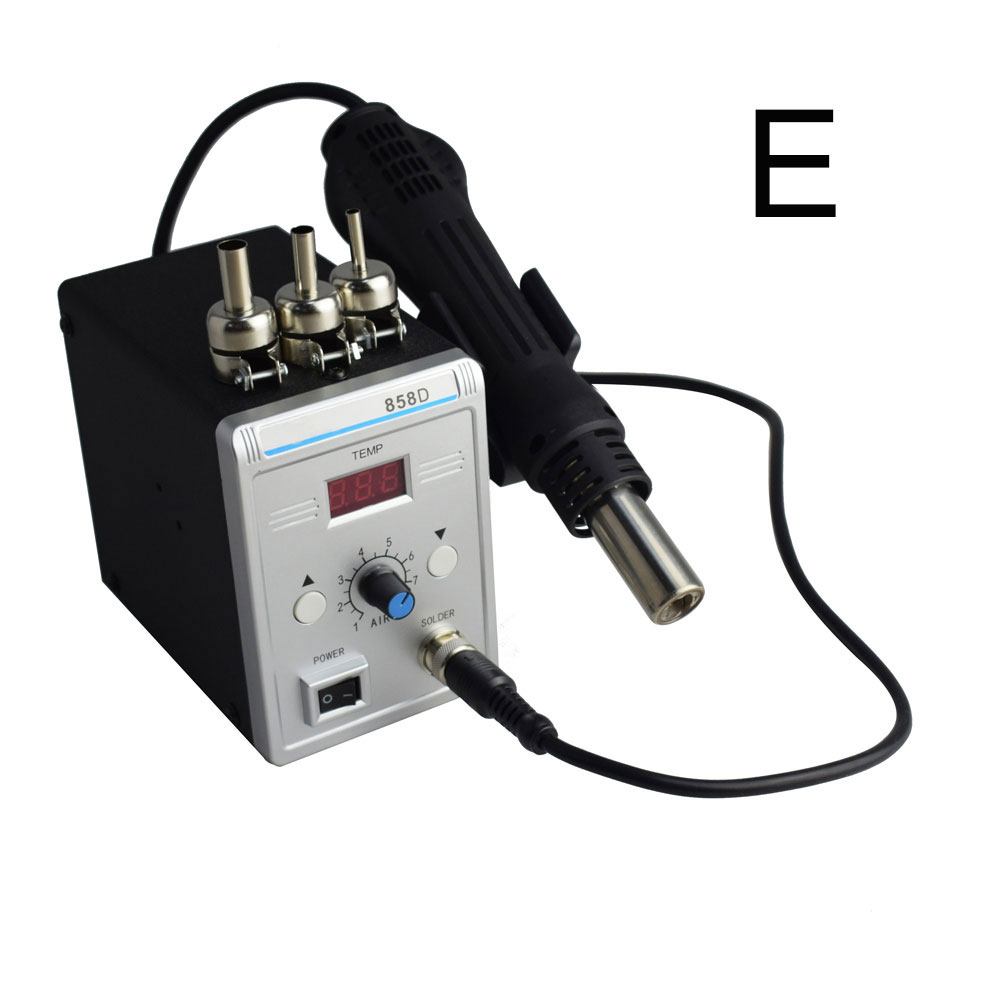 Eruntop 858D Advanced Lead-free SMD Rework Soldering Station LED Digital  Hot Air GUN Blowser