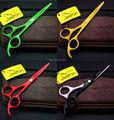 4 colorido opcional 5.5 pulgadas JASON tijeras de corte, JP440C Shear Hair para Salon barberos tijeras profesionales, 1 unids