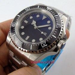 2019 najnowszy Hot top marka luksusowe 44mm Bliger czarna tarcza SS przypadku świetliste dłonie data automatyczne mechaniczne mężczyzna zegarki na rękę w Zegarki mechaniczne od Zegarki na
