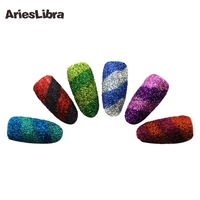 KEOLA 12 Colors Nail Holographic Glitter Powder 3D Dust Nail Art Glitter Manicure Tools Nail Art