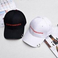 유럽과 미국의 철 반지 자수 편지 야구 모자 성격 커플 야외 힙합 모자