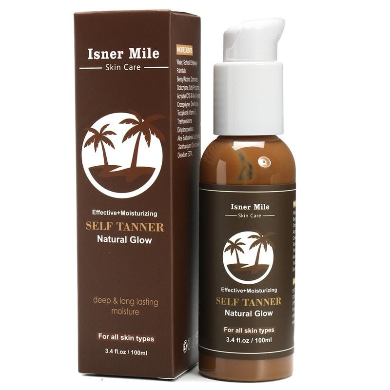 Body Bronze Self Hand Sun Tan Tanning Enhance Lotion 100ml Day Solarium Cream Natural Bronzer Sunscreen Tanner Lotion For Female