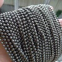 10 feet,3 MM diameter Small Pure Titanium Beads Ball Chain DIY Necklaces