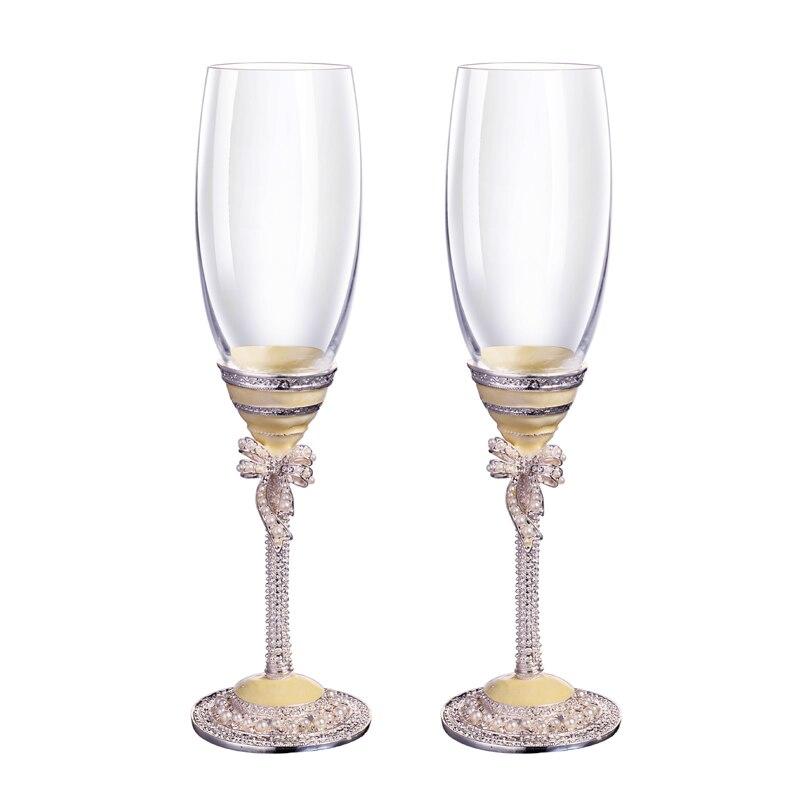Verre exquis sans plomb verre à vin rouge verre cristal noble verre à champagne paire de tasses