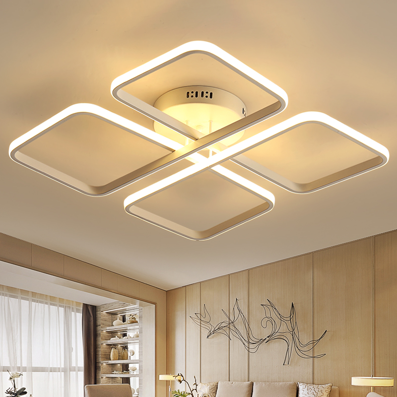 Square Surface Mounted Modern led living room bedroom ceiling Chandelier lights fixtures Aluminum ceiling Chandelier AC85-265V neo gleam rectangle modern led ceiling chandelier lights for living room bedroom ac85 265v square ceiling chandelier fixtures