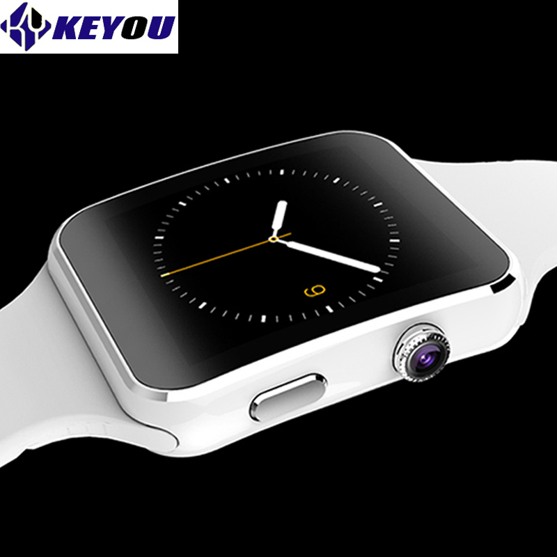 Keyou X6 bracelet smart montres bluetooth android smartwatch 2017 damen électronique sim carte disponible smart gear wacht téléphone