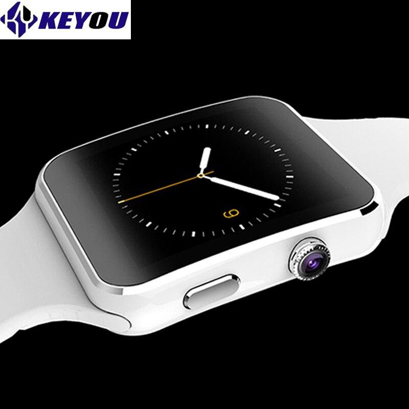 Keyou X6 bracelet smart montres bluetooth android smartwatch 2017 damen électronique sim carte disponible smart gear wacht téléphone