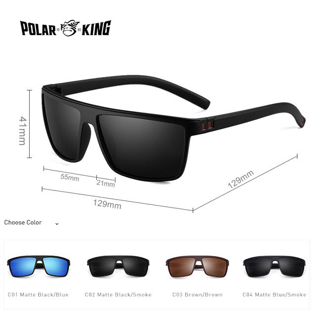 87340221e9 POLARKING Brand Retro Polarized Sunglasses For Men Oculos de sol ...