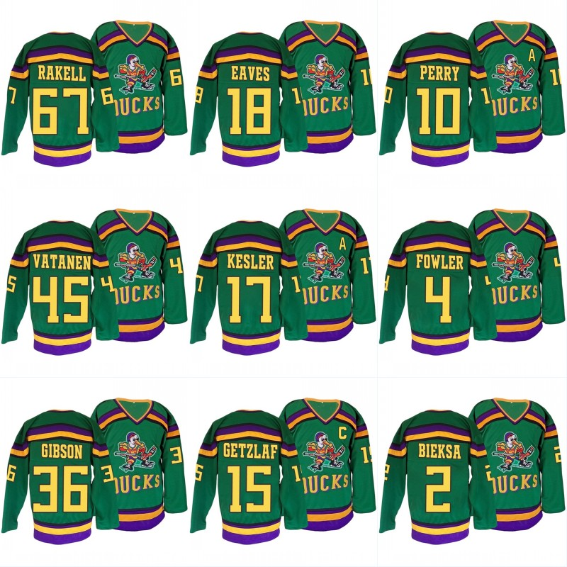 67 Rickard Rakell Mighty Ducks Hockey Jersey 15 Getzlaf 10 Perry 4 Fowler 2 Bieksa 18 Eaves Gibson 45 Vatanen Throwback Jersey 2015 61 men s hockey jersey