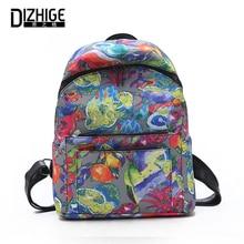 Купить с кэшбэком DIZHIGE Brand Large Capacity Nylon Women Backpack High Quality School Bags For Women Fashion Multifunctional Bag Travel Bags New