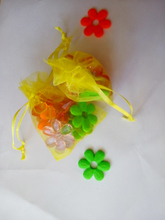 500 unids amarillo del regalo del organza bolsas 13×18 cm bolsos de fiesta para las mujeres evento casarse bolso de Lazo de Exhibición de La Joyería bolsa de Bolsa de accesorios de bricolaje
