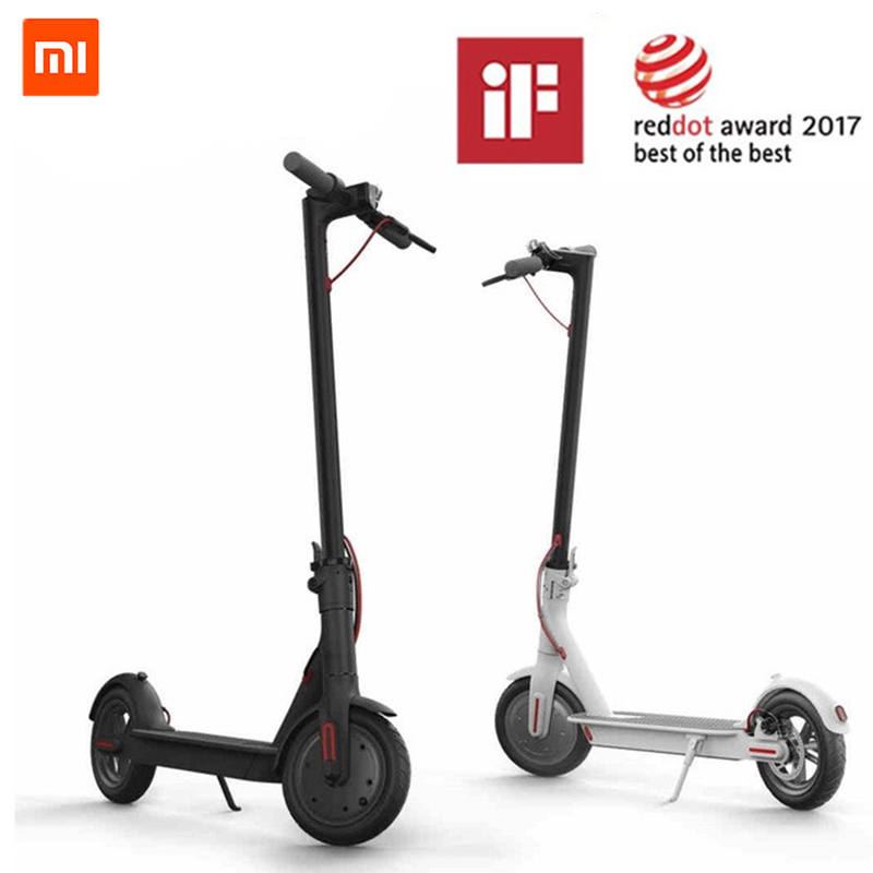 Original Xiaomi Mijia M365 Smart Electric Foldable Scooter 2 Wheels Hoverboard Oxboard 30km mileage LG Battery Kick Scooters цена