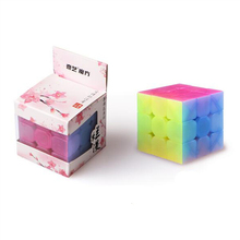 Newest QiYi Cube 3x3x3 Anti-adhesive Magic with Elastic Spring Educational Toys for Brain Trainning Jelly Color