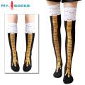 2016 creative New Women Chicken socks with chicken print toe Trendy Women fashion 3D Cartoon Thigh High Sale Chicken Toe Feet La
