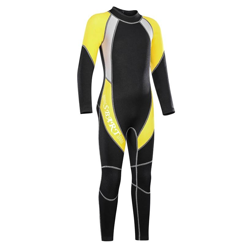Criança do Bebê Crianças e Meninas Crianças Wetsuit Completo Premium Neoprene Meninos Juventude Nadar Surf Snorkel Mergulho Volta Zip Terno Molhado 2mm Mod. 311601