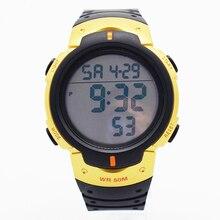 Bounabay impermeable reloj running para hombre hombre relojes de pulsera para hombres digitais es reloj de alarma original de silicona ejército natación saat