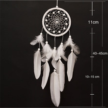 New white feather dream catcher personalized national home decor wedding decoration garden wind chime ornaments