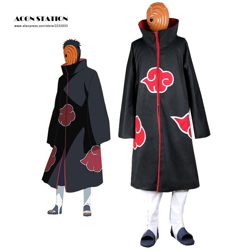 2016 Free Shipping Cosplay naruto Akatsuki Orochimaru uchiha madara Sasuke itachi Pein Clothes Costume cloak cape wind Dust Coat