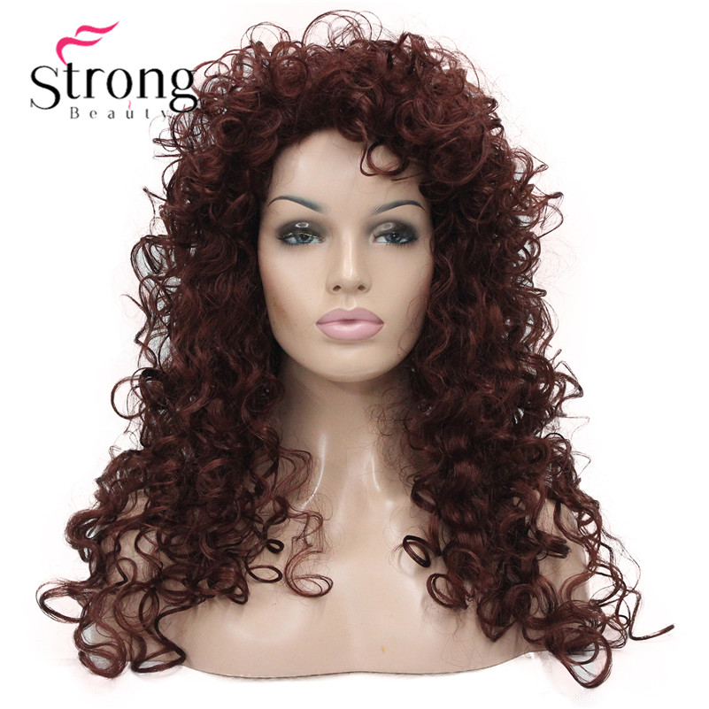 StrongBeauty Auburn Full Curl Synthetic Wig Women's Full Wigs COLOUR CHOICES