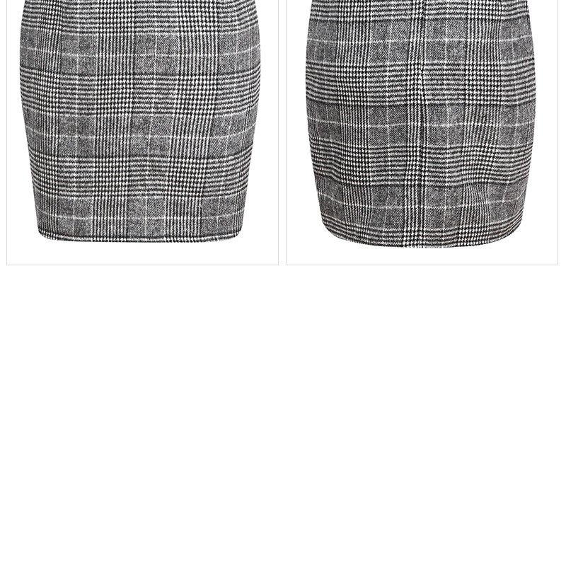 Haoduoyi Pencil Sexy High Waist Plaid Mini Short Skirt Casual Women Office Lady Buttoms Zipper Back Hot Sell The New Listing 16