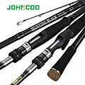 Johncoo 탄소 낚시대 2.7m 3.0m m mh 힘 10-45g baitcasting 막대 sea bass inshore 낚싯대 3 단면도 회전시키는 막대