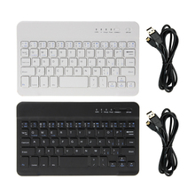 8/9/10 Inch Mini Wireless Bluetooth 3.0 Keyboard for iPad Tabs Galaxy IOS Android Windows Tablets Mobile phone Aluminium Russian russian removable wireless bluetooth keyboard case for 9 to 10 1 inch leather case for ios android windows keyboard