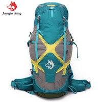 Jungle King Free Shipping Professional Waterproof Rucksack Internal Frame Climb Camping Hiking Backpack Mountaineering Bag 60+5L