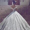 2017 Latest Unique V-neck Design Perspective Wedding Dress 2017 Very Beautiful Appliques Vestido De Noiva