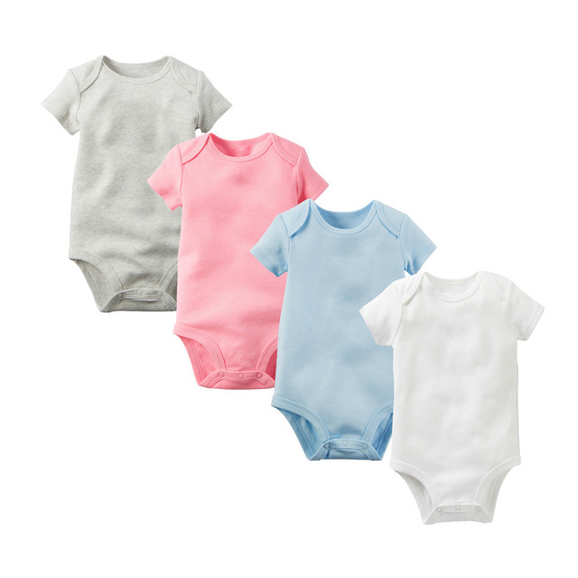 9b90fcd53850 baby bodysuit Short Sleeve baby clothing romper 100% cotton solid ...