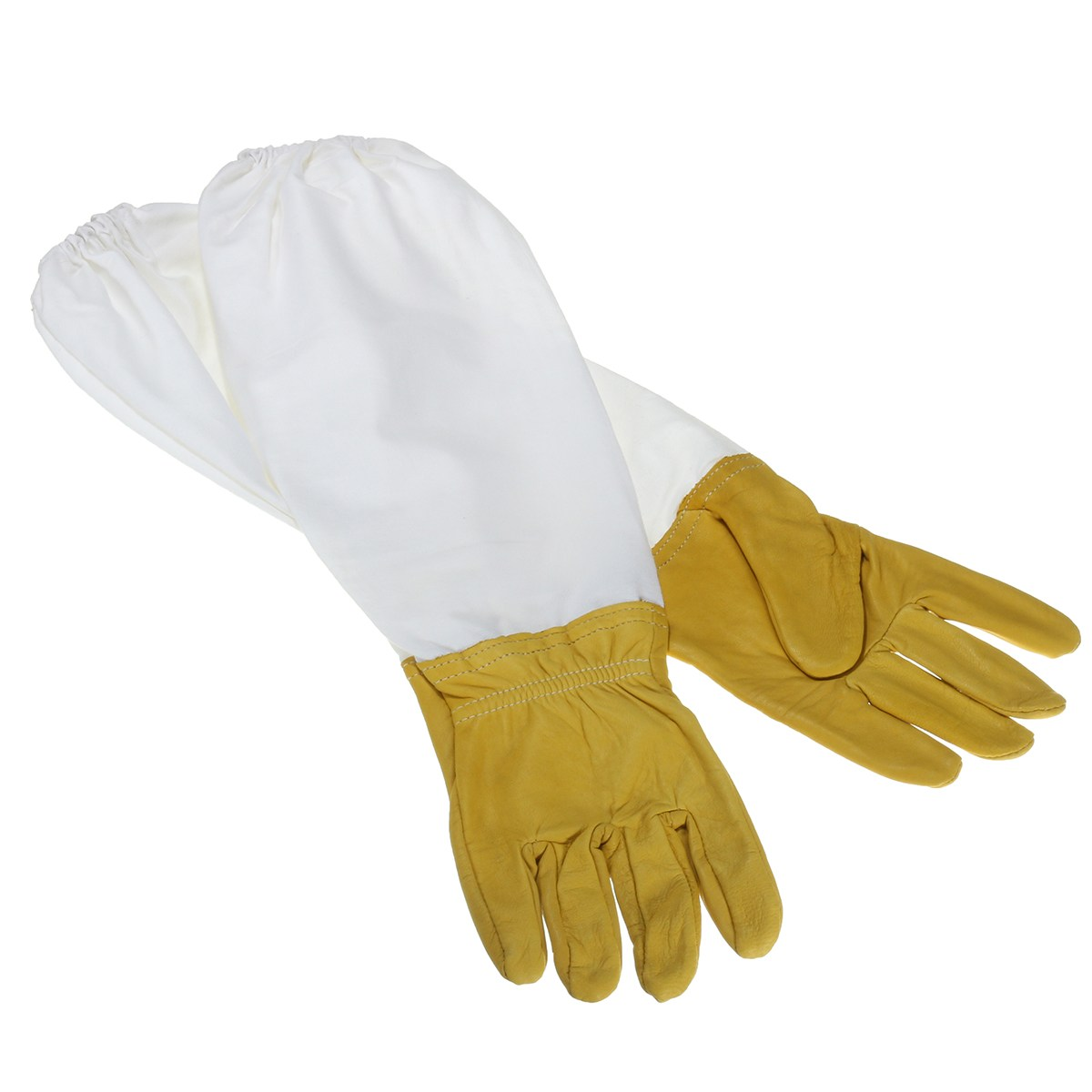 NEW Safurance 2 Pair Protective Vented Long Sleeves Sheepskin Bee Keeping Beekeeping Gloves Workplace Safety комплектующие для кормушек ice 2 beekeeping entrance feeder