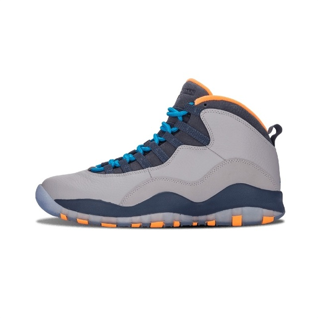 release date ba488 cc9b4 US $71.12 49% OFF|Jordan Retro 10 Men Basketball Bobcats Chicago Cool Grey  Powder Blue Steel Grey Cement Sport Sneakers-in Basketball Shoes from ...