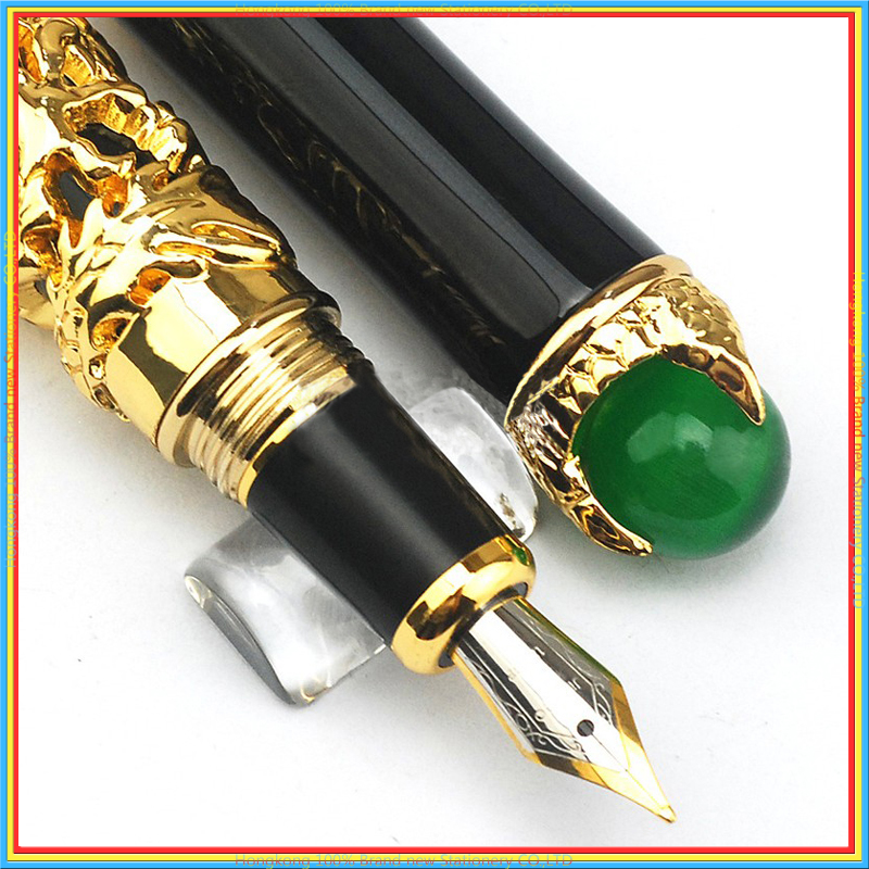 где купить High Quality GOLDEN DRAGON KING PLAY PEARL FINE Iraurita FOUNTAIN PEN luxury Ink pens Caneta Stationery supplies 03841 по лучшей цене