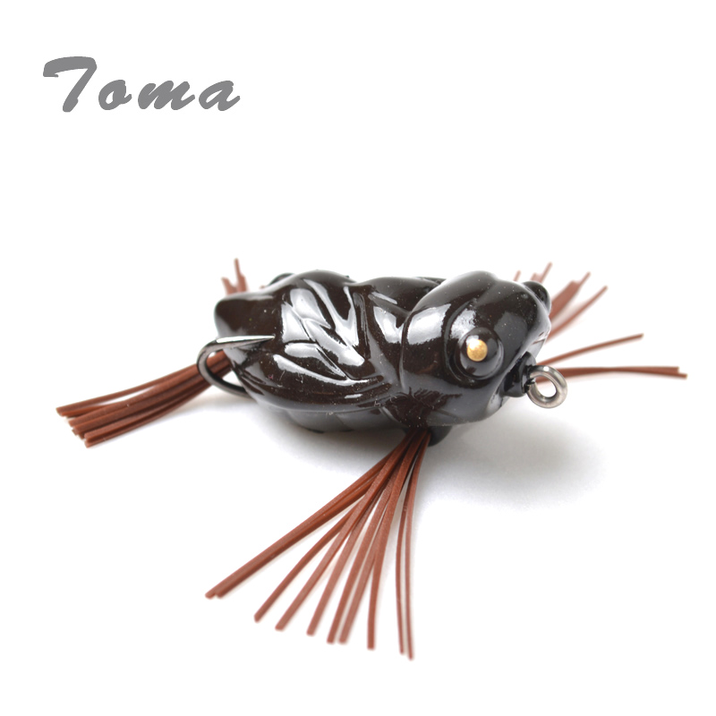 Beautiful Toma High Quality Cicada Frog Fishing Lures 40mm/5g Snakehead Lure Topwater Soft Bass Bait Frog Lure Fishing Tackle Curing Cough And Facilitating Expectoration And Relieving Hoarseness