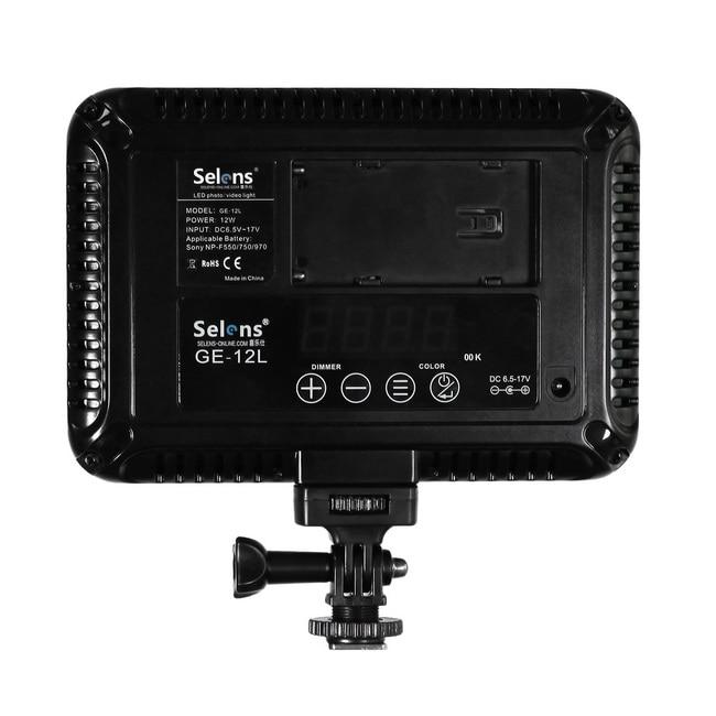 Fotoaparat Selens GE-12L 12w Video Kompaktna LED ploča Rasvjeta - Kamera i foto - Foto 6