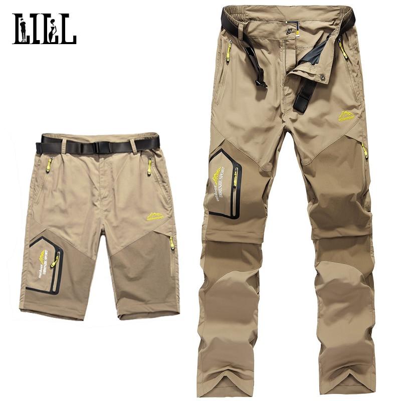 LILL | 5XL Erkek Çıkarılabilir Hızlı Kuru Rahat Pantolon - Erkek Giyim