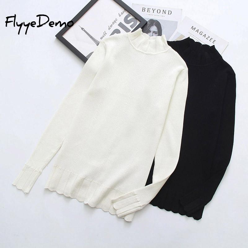 4XL Autumn Women Pullovers Sweater Knitted Elasticity Casual Jumper Fashion Loose Turtleneck Warm Female Sweaters Plus Size