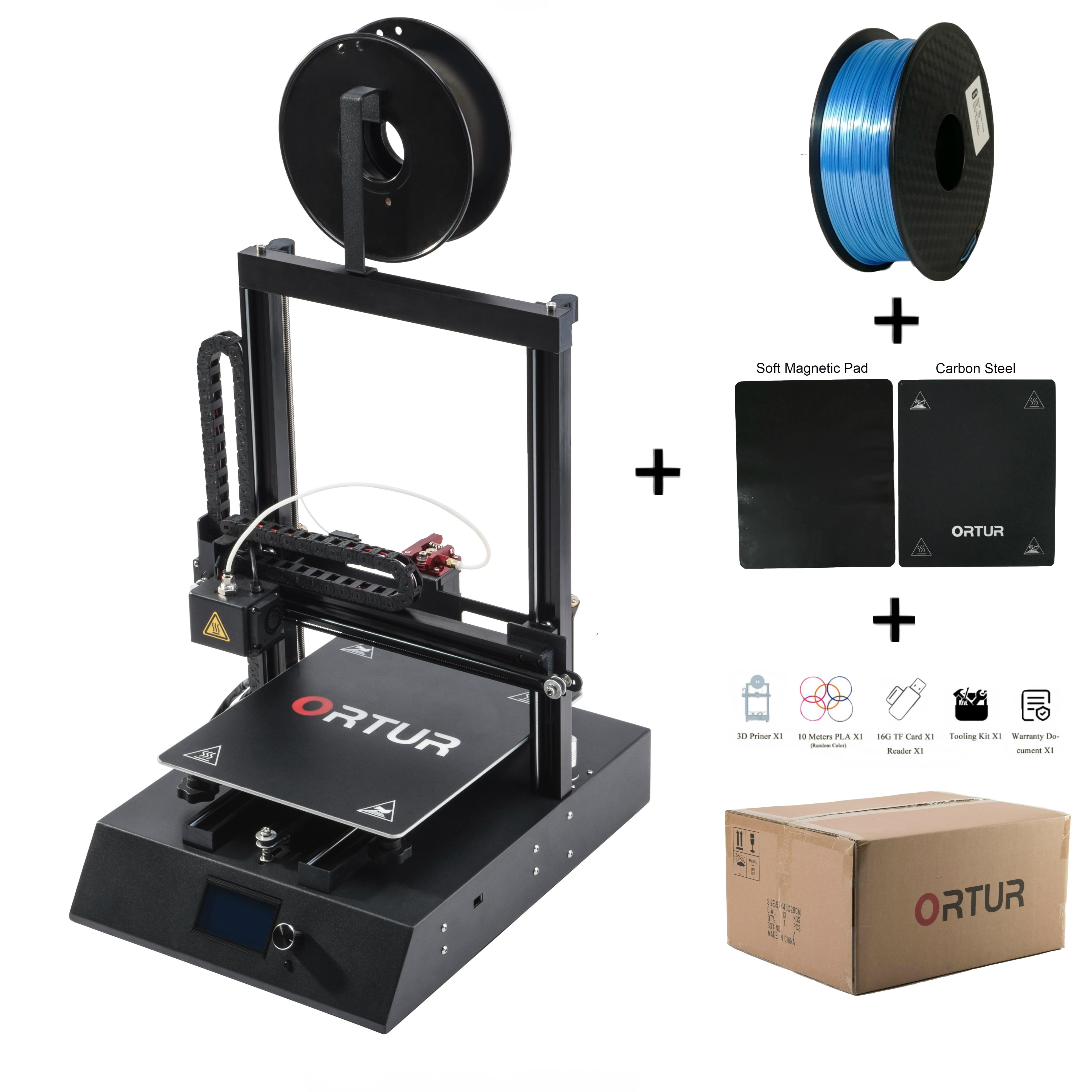 Adatto per I Principianti Ortur4 Metallo 3D di Stampa Della Stampante Kit FAI DA TE Magnetico Piattaforma di Costruzione Impresora 3d Guida Lineare Rotaie 3d Drucker