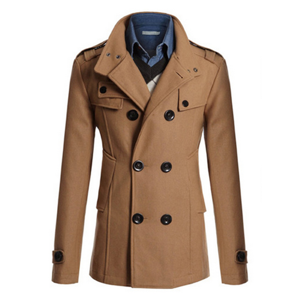 Trench Coat Men Classic Men s Double Breasted Masculino Trench Clothes Long Jackets Coats British Style