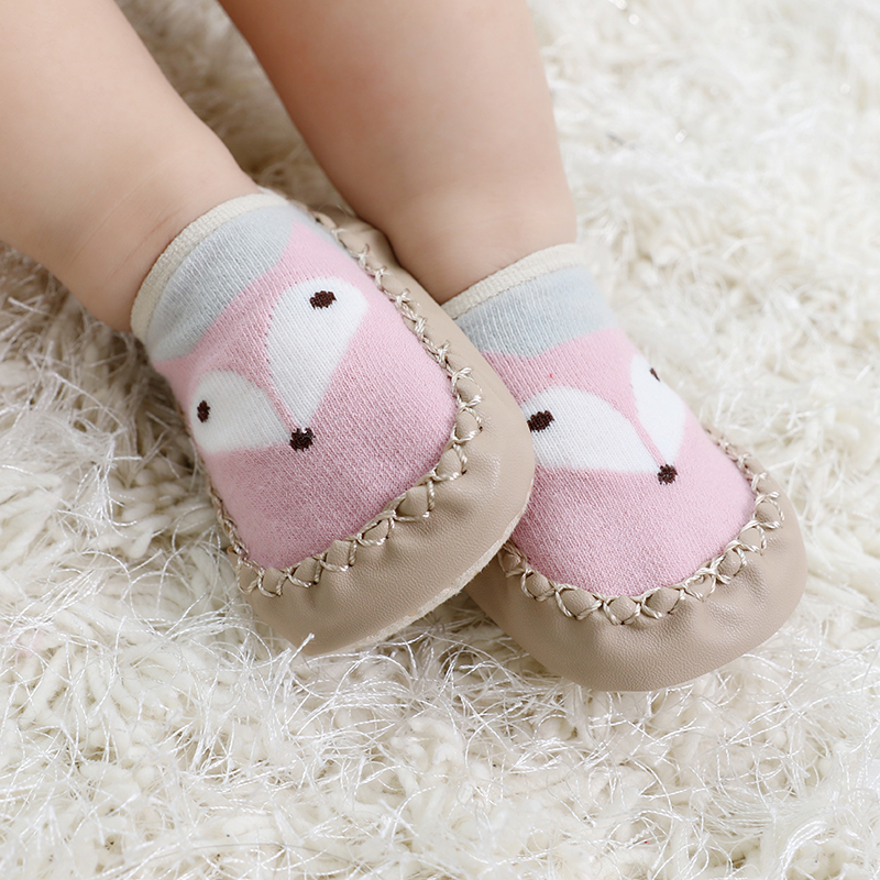 New Spring Baby Socks Children Infant Cartoon Socks Baby Gift Kids Indoor Floor Socks Leather Sole Non-Slip Thick Towel Socks