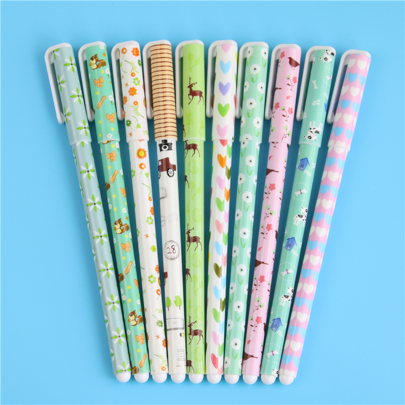 10 Pcs/lot Kawaii Cartoon Colorful Gel Pen Set Cute Korean Stationery Pens For Writting Office School Supplies Gift 10pcs lot new cute colorful cartoon gel pen set kawaii korean stationery creative gift school supplies colored gel pens