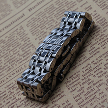 Venda de reloj de plata de acero inoxidable pulido de las correas de pulsera 14 mm 16 mm 18 mm 20 mm 22 mm para ladys cuarzo reloj de pulsera para hombre de la banda