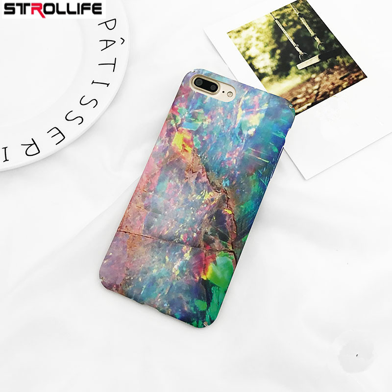 STROLLIFE Retro Art Painting Marble Phone Case For iphone 7Plus Case Hard Frosted Full Protect Cover Shell For iphone7Plus Coque