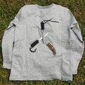 Anti corte resistente T - camisa macia de auto defesa leve schutzweste tatico anti covert facada protecção camisa de manga longa